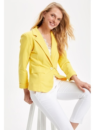 DeFacto Ceket Sarı